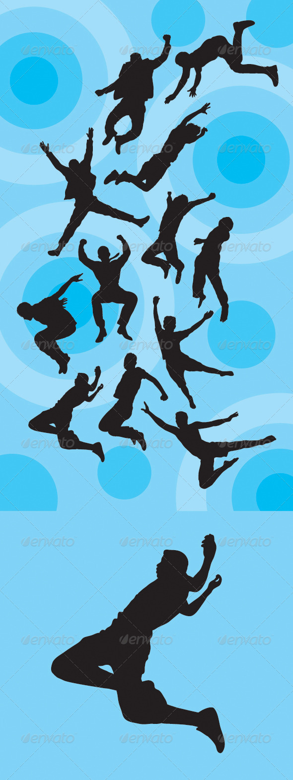 GraphicRiver Man Jumping Silhouettes 4916035