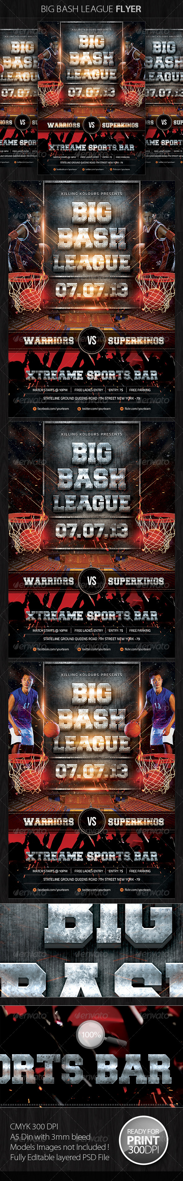 GraphicRiver Big Bash League Flyer 4916061