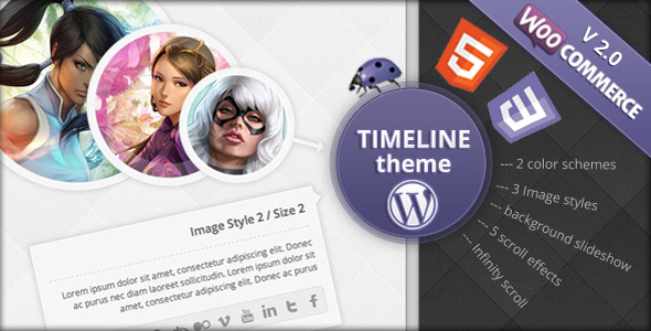 Time Travel - Timeline WordPress Theme