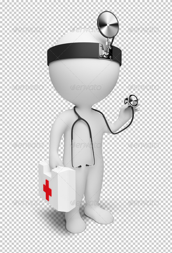 GraphicRiver 3D small people doctor 4916152
