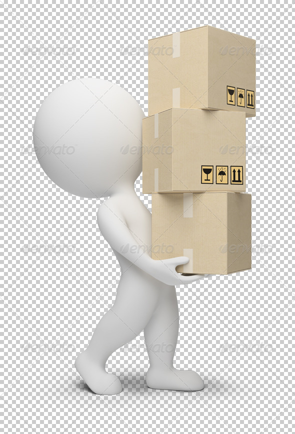 GraphicRiver 3D small people boxes 4916155