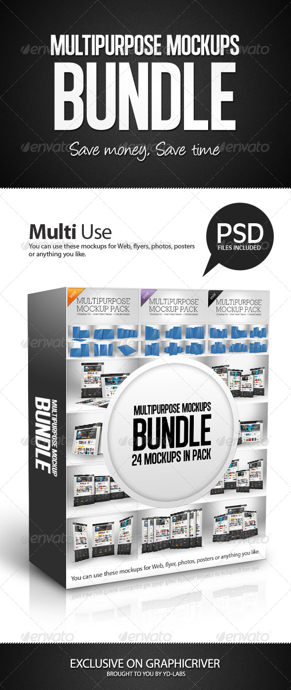 Multipurpose Mockups Bundle - Miscellaneous Displays