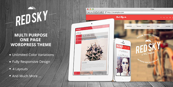 ThemeForest Red Sky One Page Multi-Purpose Theme 4916191