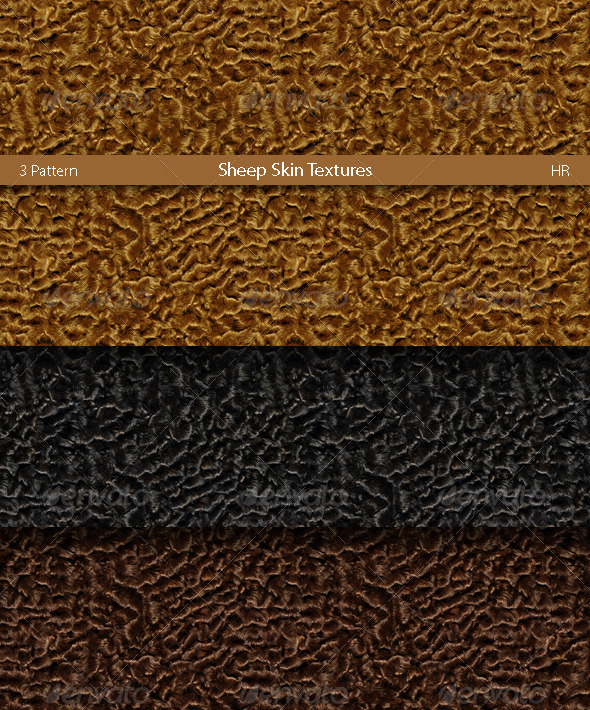 Sheep Skin Karakul Texture - 3DOcean Item for Sale