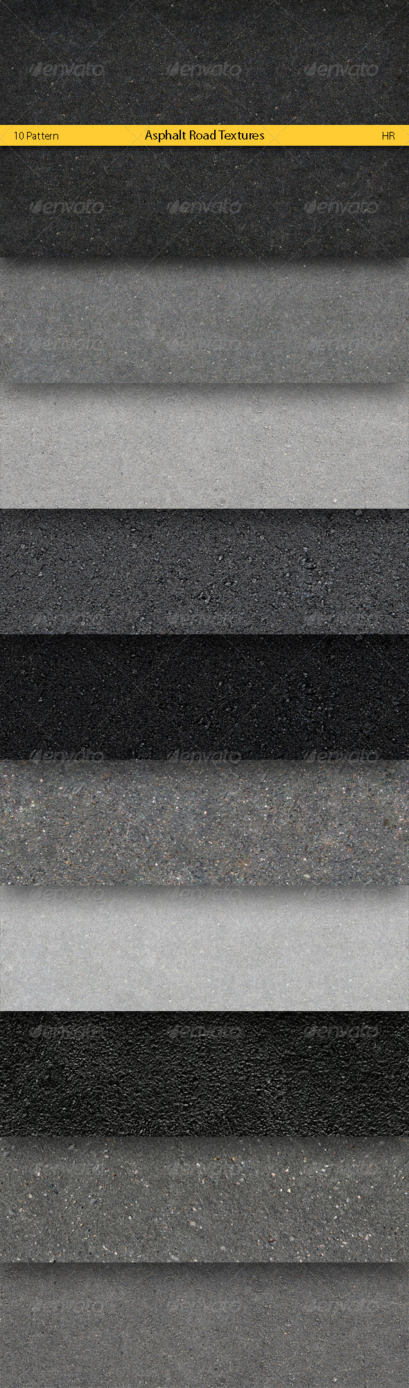 Asphalt Road Surface Textures - Urban Textures / Fills / Patterns
