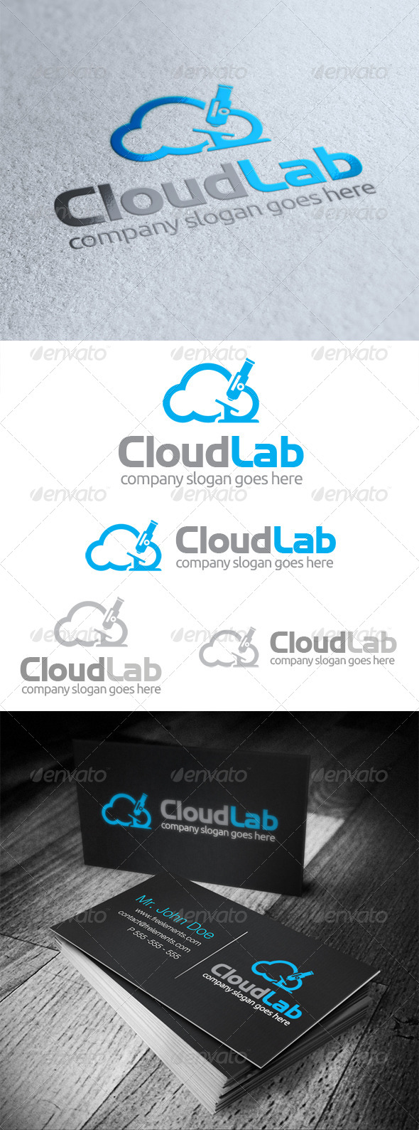 GraphicRiver Cloud Lab Logo 4916305