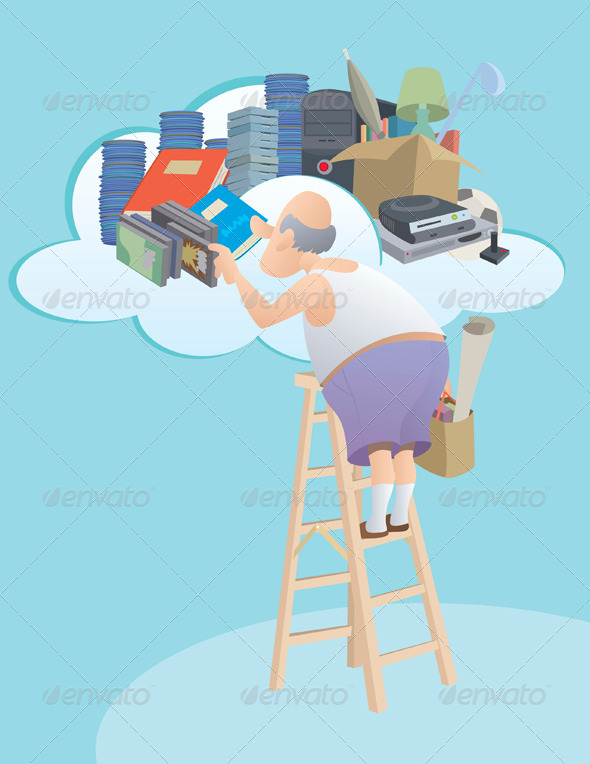 GraphicRiver Moving to the Cloud 4880835