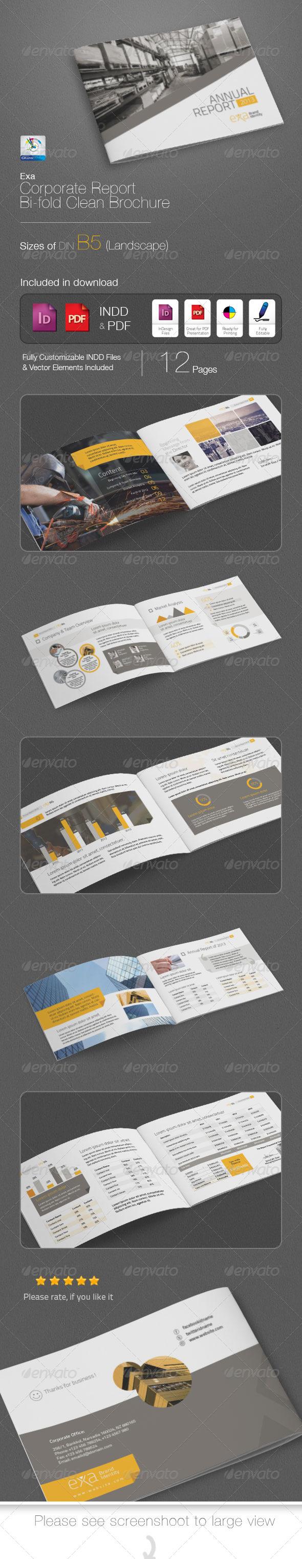 GraphicRiver Exa Business Report B5 Brochure 4916819