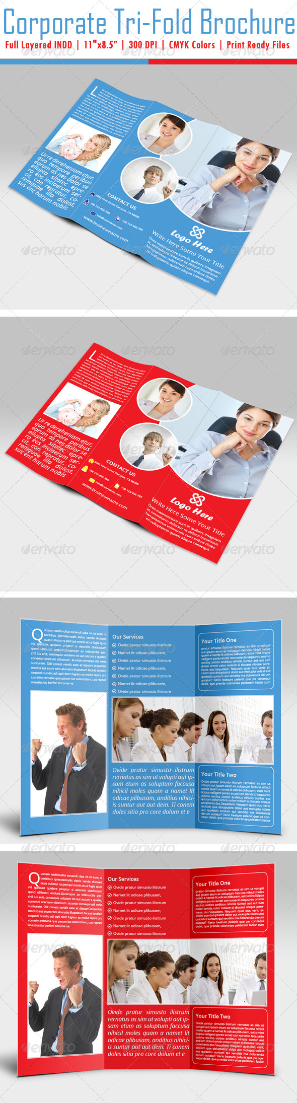 GraphicRiver Corporate Tri-Fold Brochure 4856792