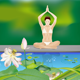Yoga Girl by the Pond - GraphicRiver Item for Sale