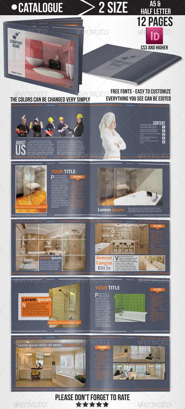 GraphicRiver Product Catalog 4823375