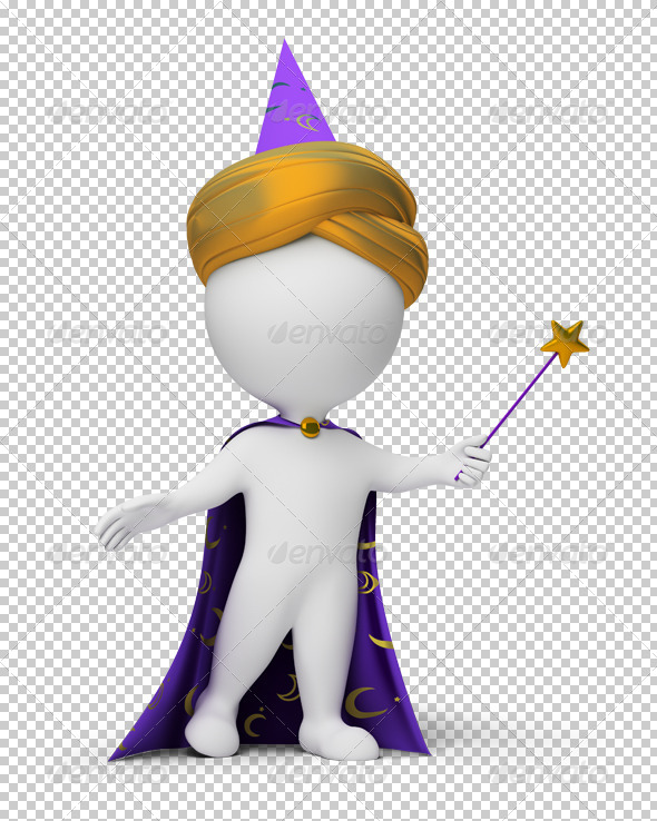 GraphicRiver 3D small people magician 4918242