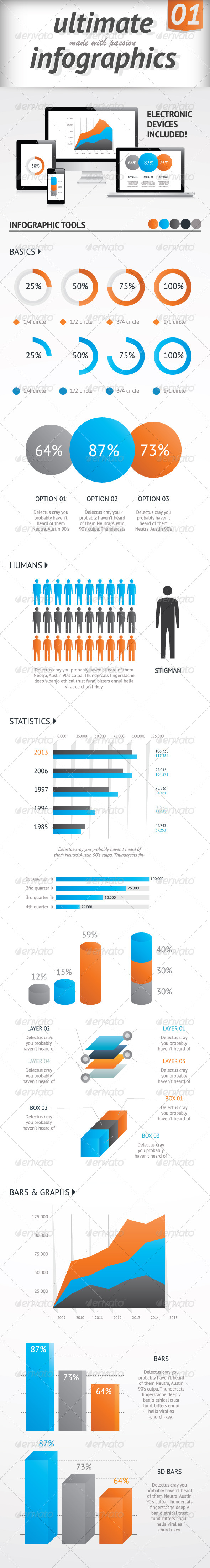 GraphicRiver Ultimate Infographics Elements Set Vector 4918261