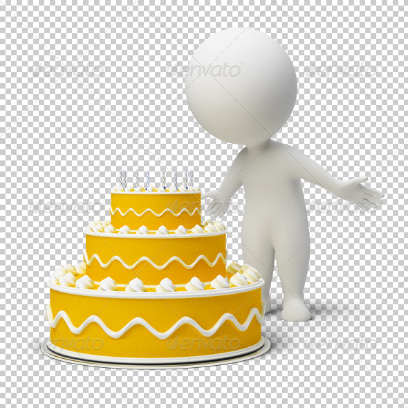 GraphicRiver 3D small people birthday cake 4918331