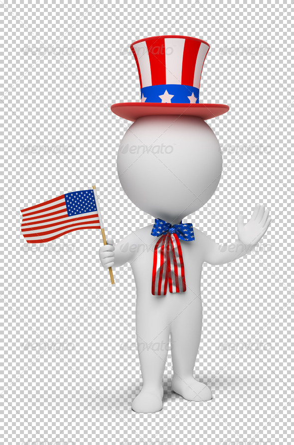GraphicRiver 3D small people Independence Day 4918334