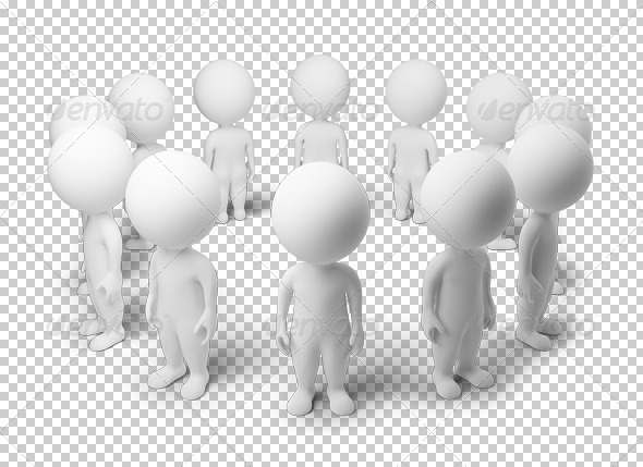 GraphicRiver 3D small people standing around 4918361