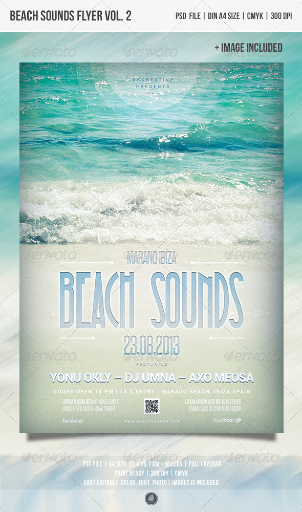 GraphicRiver Beach Sounds Flyer Vol.2 4855703