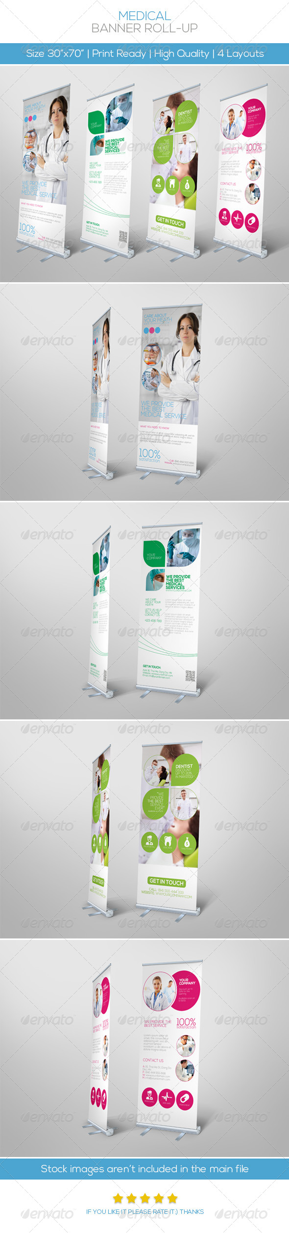 Premium Medical Roll-up Banner - Signage Print Templates