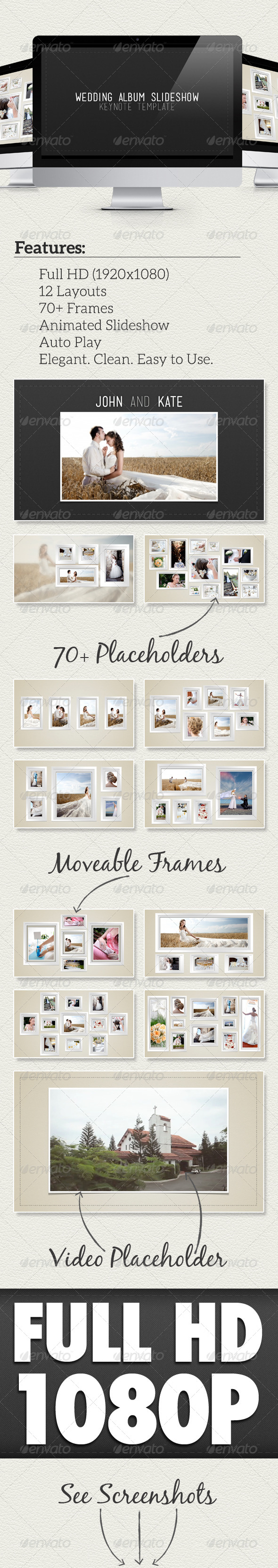 GraphicRiver Wedding Album Slideshow Keynote Template 4919636