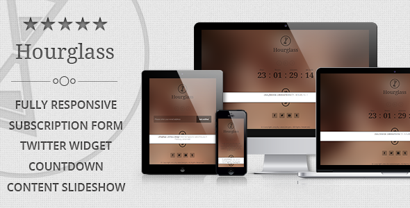 Hourglass - Responsive Coming Soon Page - Under Construction Specialty Pages