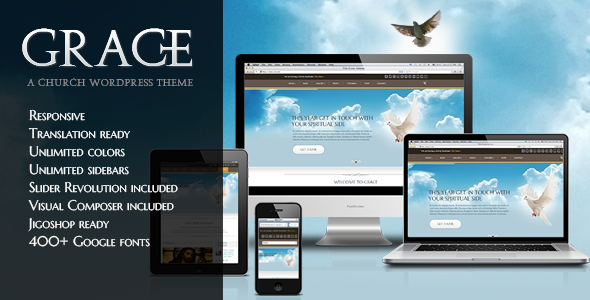 ThemeForest Grace A Responsive Church WordPress Theme 4819055