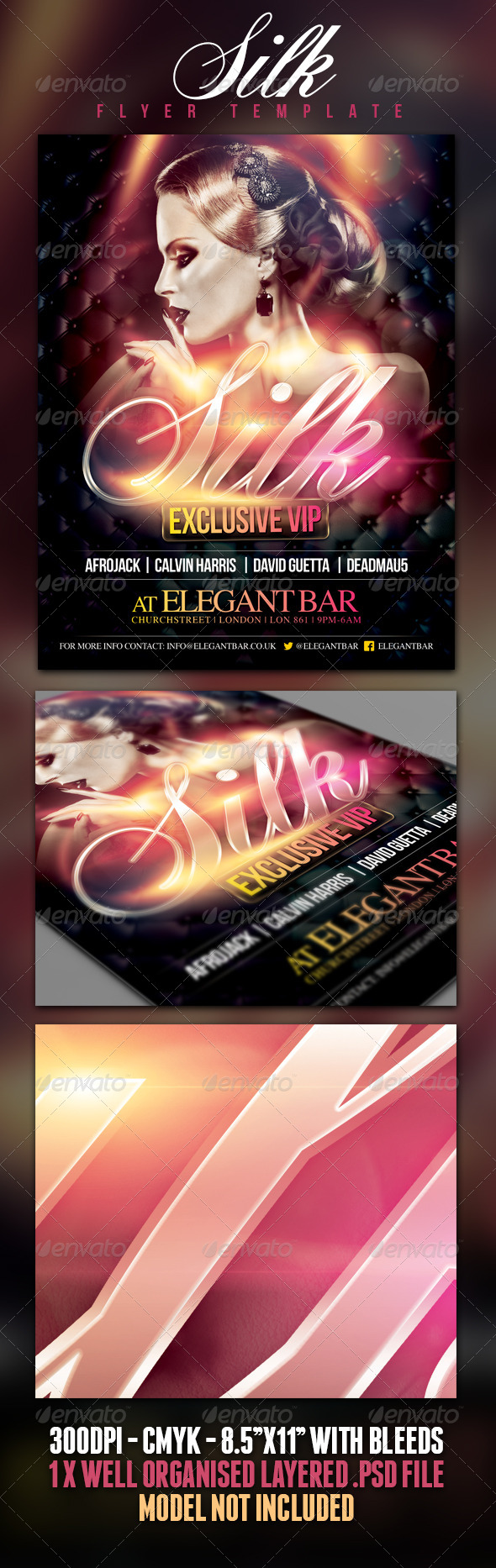 GraphicRiver Silk Poster Flyer Template 4860158