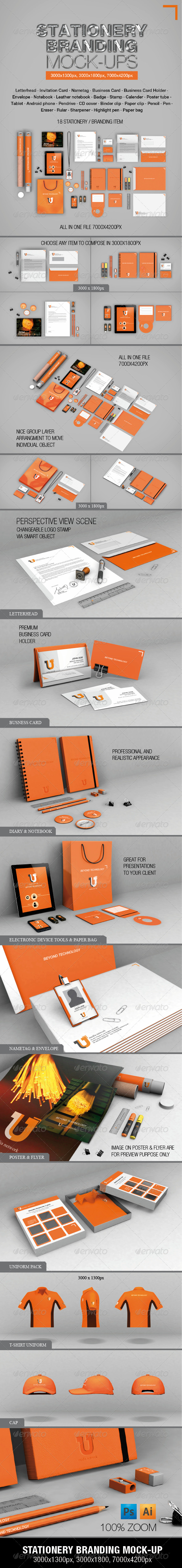 GraphicRiver Stationery Branding Mock-ups 4910650