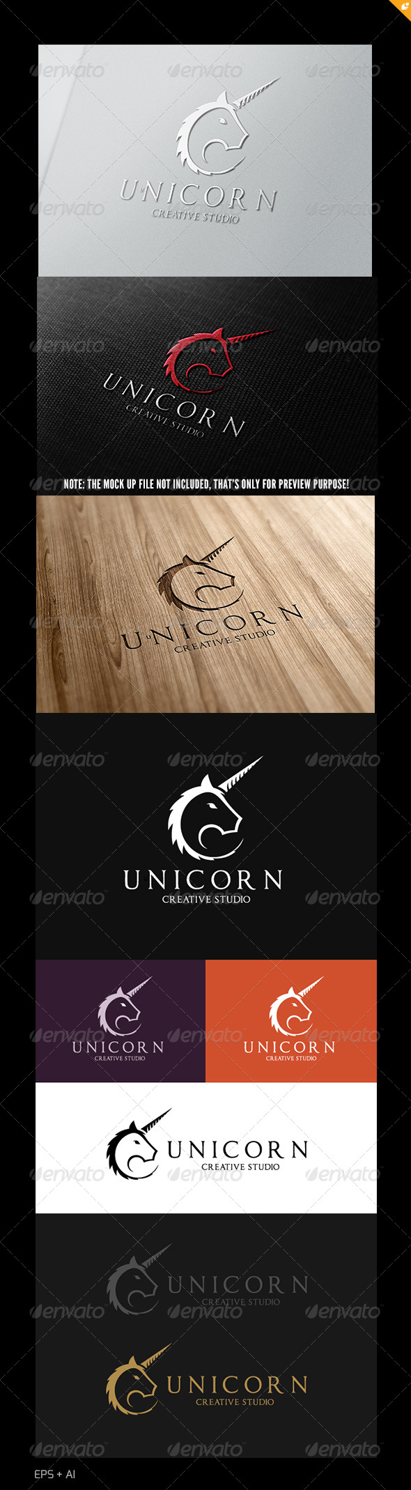GraphicRiver Unicorn Creative Studio Logo 4920850