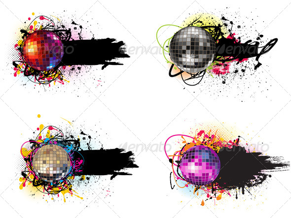 GraphicRiver Disco Balls Banner 4921022