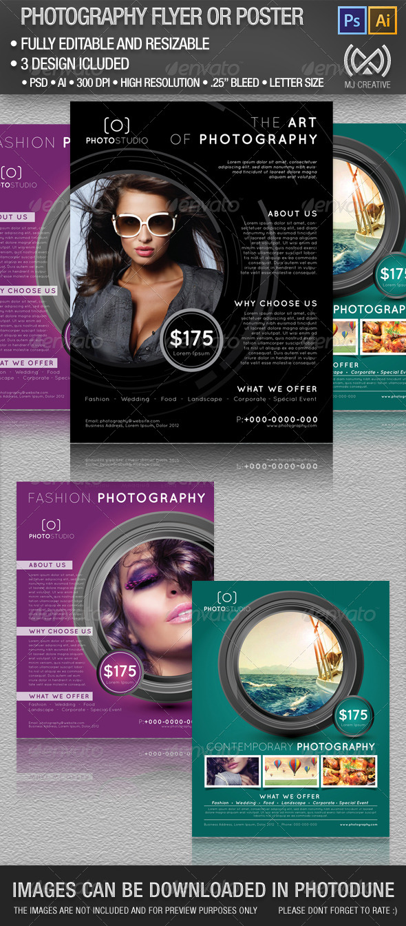 GraphicRiver Photography Flyer and Poster Set 4861142