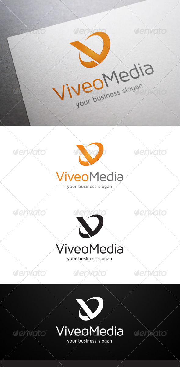 GraphicRiver Viveo Media V Letter Logo 4921551