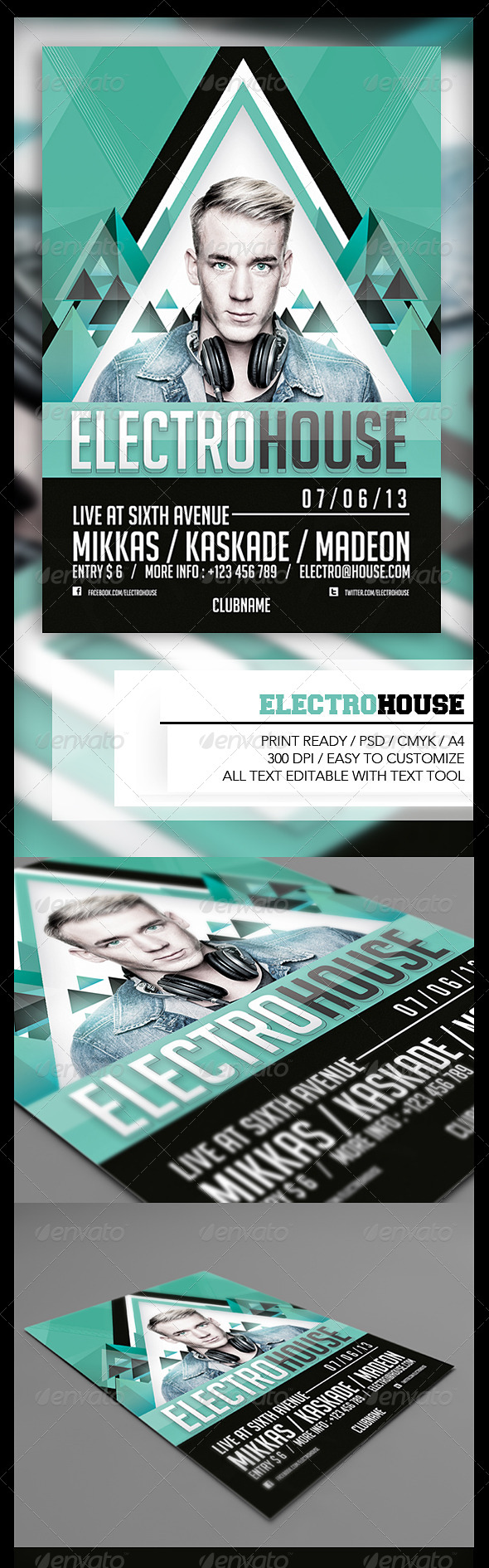 GraphicRiver Electro House Flyer 4921600