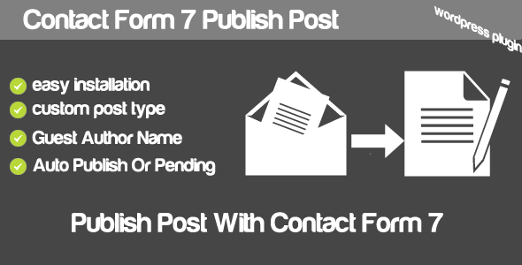 CodeCanyon Contact Form 7 Publish Post 4902863