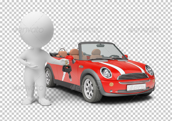 GraphicRiver 3D small people car keys 4921924