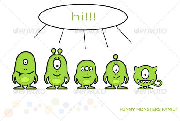 Funny Monster Family
