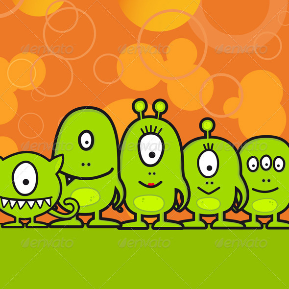 GraphicRiver Funny Monster Family 508906