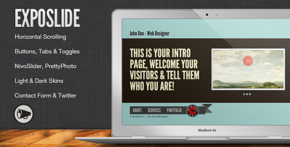 ThemeForest ExpoSlide Creative One Page Html Template 507706