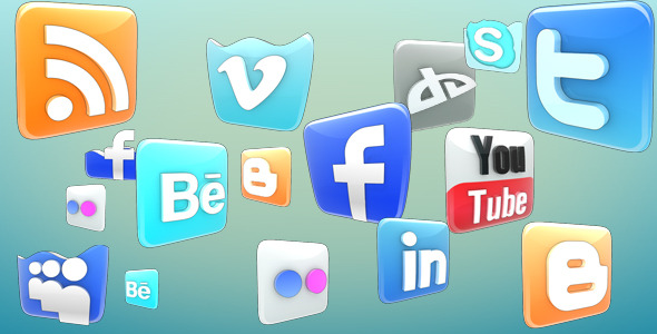 After Effects Project - VideoHive Social Networks Icons Pack 508920
