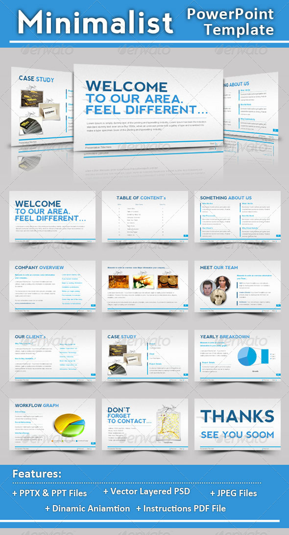 GraphicRiver Minimalist PowerPoint Template 508983