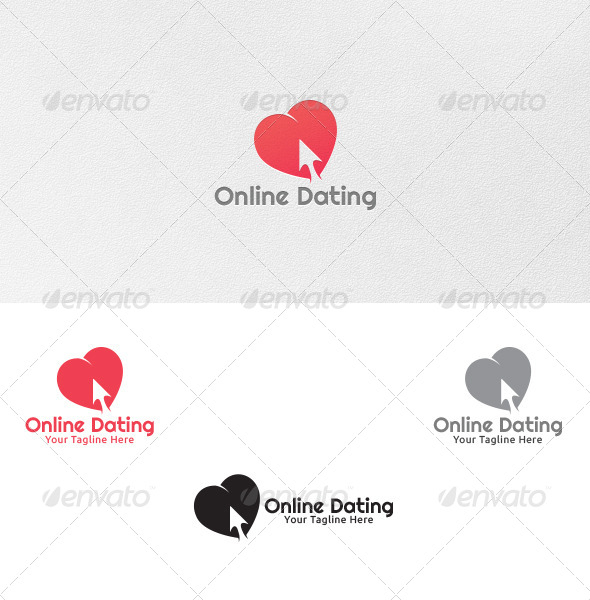 GraphicRiver Online Dating Logo Template 4922567