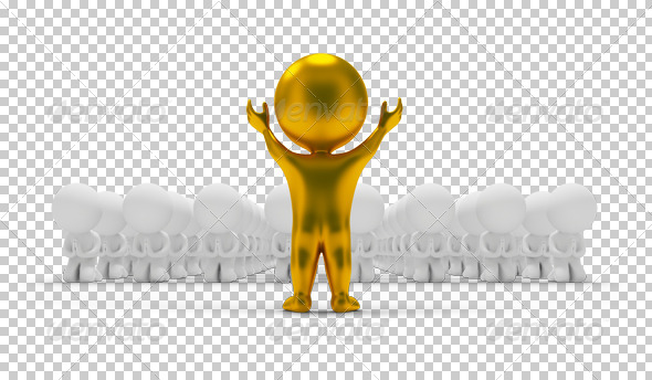 GraphicRiver 3D small people worship an idol 4923345