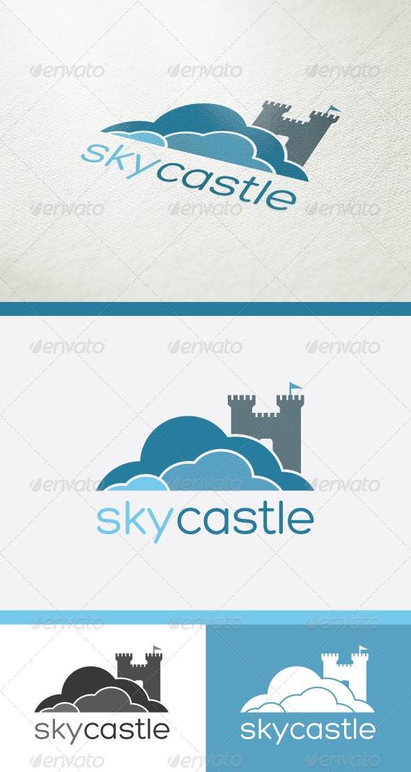 GraphicRiver Sky Castle Logo 4923426