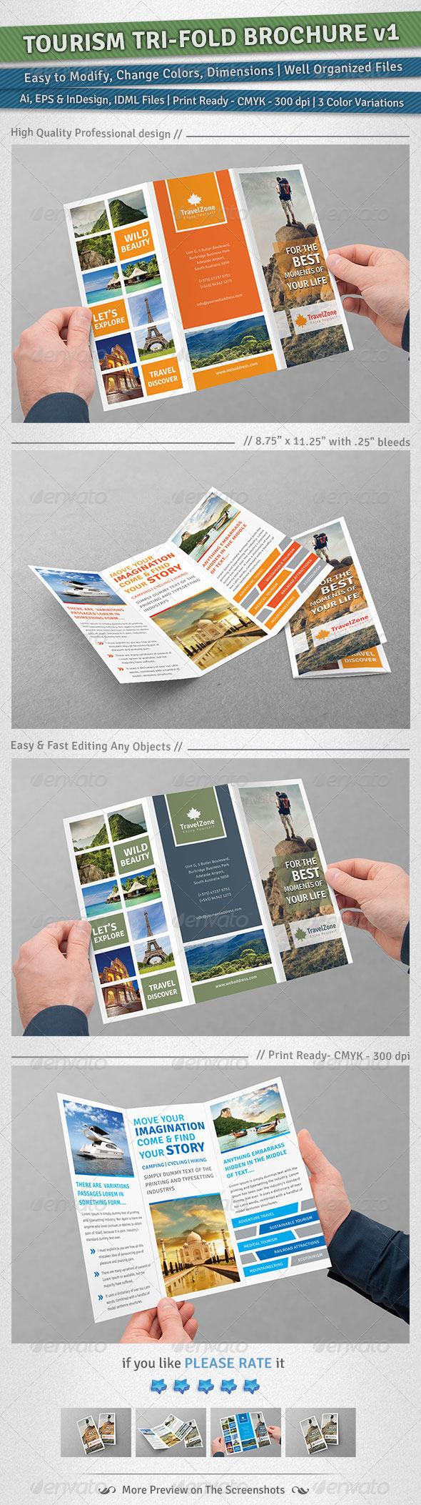 GraphicRiver Tourism Tri-Fold Brochure Volume 1 4923689