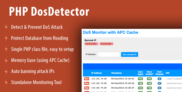 CodeCanyon PHP DosDetector Class 4899130
