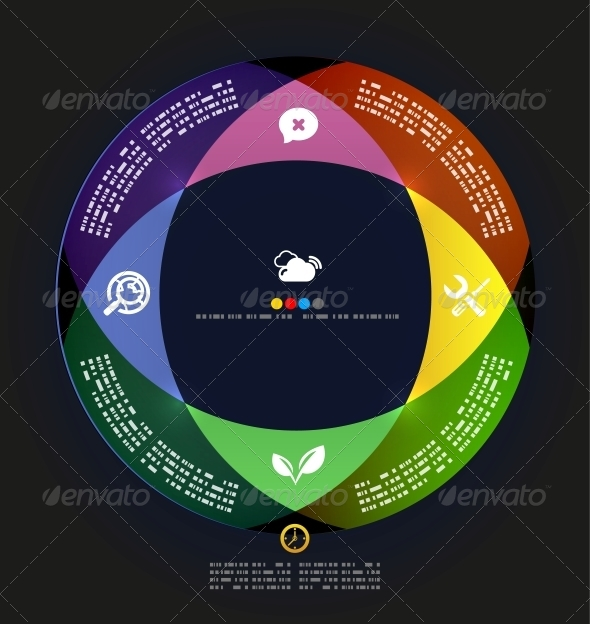 GraphicRiver Modern Circle Infographic Minimal Design Template 4924353
