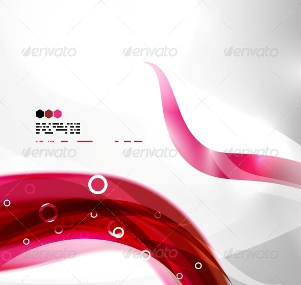 GraphicRiver Red Abstract Wave Background 4924418