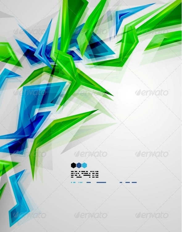 GraphicRiver Colorful Glass Pieces 4924426