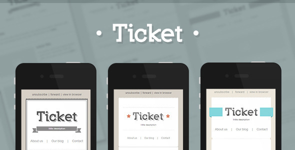 ThemeForest Ticket Responsive E-mail Template 4924800