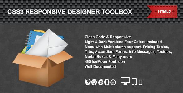 CodeCanyon CSS3 Responsive Designer Toolbox 4920198