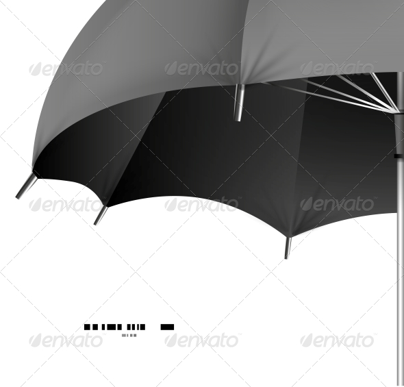 Vector Umbrella Protection Concept